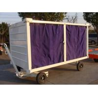 China Aviation Airport Baggage Trolley , Cart Airport Luggage Trolley With Canopy wholesale