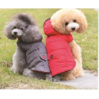 China Personalized Dog Clothes Red Color For Cool Weather And Winter Dog Coats on sale