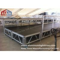 China Lightweight Aluminum Scaffold Stage Solid Structure Customized Size Easy Installation on sale