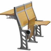 China Beige College Stadium Amphitheater Chair And Fixed Desk Multiple - Plywood Floor Mount Stand Feet wholesale
