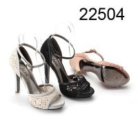 China Lace Fabric Womens Strappy Sandals With Ankle Strip Black, White, Pink wholesale