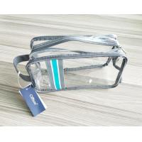 China Luxury Reusable Soft PVC Cosmetic Bag , Clear Makeup Bag With Hand Loop wholesale