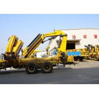 China 14T Mobile cargo crane truck knuckle boom Safety Transportation wholesale