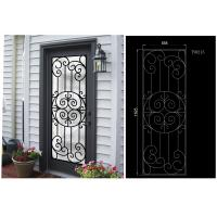 Buy cheap Most Durable Agon Filled Wrought Iron Glass Doors 22*64 inch Size Shaped Crafted from wholesalers