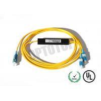 China 1x2 1310/1550nm Fused Fiber Optic Splitter 2mm Corning OS2 Cable with SC/UPC Connector wholesale