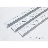 China 10mm 3 / 8 In Depth L Angle Aluminium Tile Edge Trim With Matt Silver wholesale