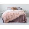 China Genuine Tibetan Sheepskin Throw For Queen Size Bed, Soft Sheepskin Fur Blanket  wholesale