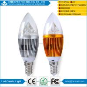 China E27 4W LED candle light 3000k warm white led candle lighting factory price wholesale