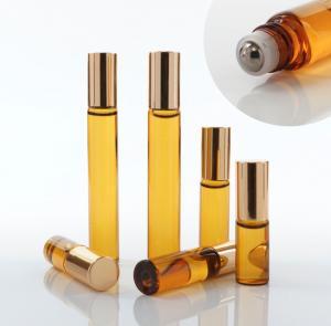 China Glass Empty Roller Bottles For Essential Oils , 10ml 30ml Roll On Deodorant Bottles wholesale