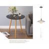 China Three Legs Modern Side Tables For Living Room White Desktop & Wooden Leg / White Leg wholesale