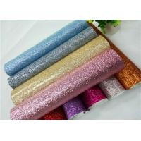 China Shoes Bags Wallpaper Glitter Fabric Roll Knitted Backing Technics 0.6mm Thickness wholesale
