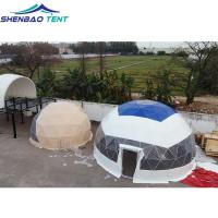 China Customized Steel Geodesic Dome Tent With Plastic Dipping Waterproof wholesale