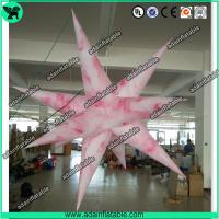 1.5m Pink 210T Polyester Inflatable Star For Club Event Hanging Decoration