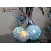 China Set Of 3 Glass Ball Lights Surface With Ice Like Finish OEM / ODM Available wholesale