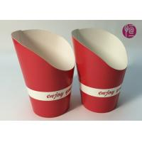 Buy cheap 9oz Height 120mm French Fries Cup , Double PE Coated Hot Chip Cup from wholesalers