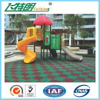 China Safety Kids Rubber Playground Mats / Kindergarten Rubber Floor Outdoor wholesale