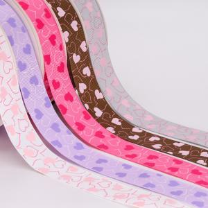 China Fancy 1 Inch Grosgrain Ribbon , Smooth Touch Feeling Custom Logo Ribbon wholesale