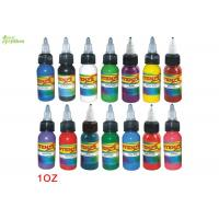China Plastic Bottle Biological Pigment Organic Tattoo Ink Light Purple / Silver / Teal 1Oz on sale