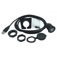 Buy cheap Black Color Dual USB Female Extension Cable Kit High Speed For Boat , Motorcycle from wholesalers