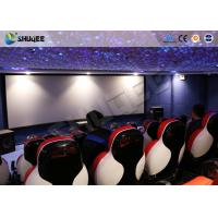 China 5D Movie Theater Motion Chairs With Arc Screen And Special Effect wholesale