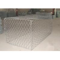 China 1 x 1 x 1m Heavy Zinc / Gray  Coated  Woven Gabion Box  with 4 . 0 Wire Daimeter wholesale