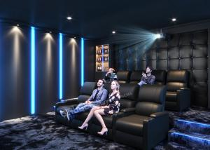 China Grey Home Cinema System With Leather Electric Recliner Sofa For Movie / Theater / House wholesale