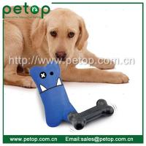 China Dog Bone Shape Doggie Plush Dog Toy with Bouncer wholesale