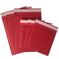Quality Red Kraft Rigid Cardboard Envelopes Corrugated Padded 100% Recyclable Hot Melt for sale