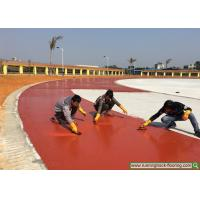 Buy cheap Athletic Rubber Running Track Installation On-site Construction Service from wholesalers