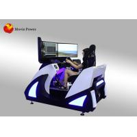 China 3 Folding Screen Virtual Reality Simulator F1 Car Racing 9D VR Electric Dynamic Platform VR Driving Game Machine wholesale