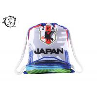China Japan Football National Backpack String Bag , Printed Athletic Pull String Bag wholesale