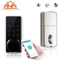 China Customized High Standard Bluetooth Smart Door Lock With Wireless Touch Screen wholesale