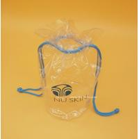 China Cylinder Transparent PVC Drawstring Organizer Pouch for Comstics, Personal Belongings wholesale