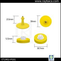 Quality Plastic Sheep Ear Tags RFID LF Animal Tag 134.2Khz Frequency With H3 Chips for sale