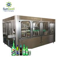 China Automatic Beer Bottle Filling Capping Machine Beer Filling Machine for Glass/Plastic Bottle on sale