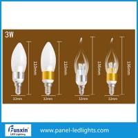 China 3 W Glass Shape Led Candle Lights / E14 Chandelier Led Candle Lamp CE wholesale