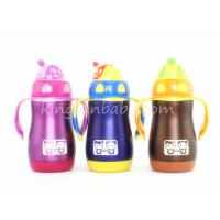 China Wide Neck Stainless Steel Straw Sippy Cup,Kids Stainless Steel Water Bottle Pink / Blue wholesale