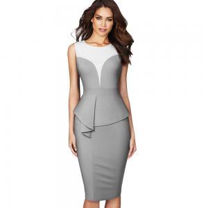 China Dacron Occupation 2PCS Womens Casual Dresses Back Zipper wholesale