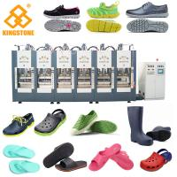 China Automatic Two Stations EVA Slipper Making Machine for Men Women Kids foaming Sandals, boots, shoes wholesale