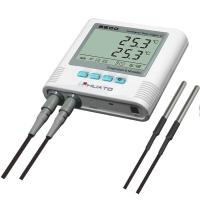 Warehouse Temperature And Humidity Data Logger : Dual temperature humidity data logger with alarm function