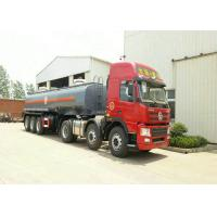 China 3 Axles Spring Suspension Chemical Tanker Truck For 33CBM Sodium Hypochlorite NaOCl wholesale