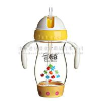 China The Second Stage 260ml yellow color PPSU Baby Drinking Bottle With Unique Slide Design wholesale