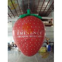 China Red 3m Height Strawberry Shaped Balloons With Digital Printing For Promotion wholesale