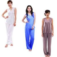 China Woman's Pure Silk Pyjama Set S054 wholesale