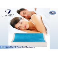 China Visco rectangle Cooling Gel Pillow , wave summer cooling gel memory pillow wholesale