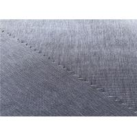 Stripe Coated Polyester Fabric Mechanical Stretch Cationic For Outdoor Sports Wear