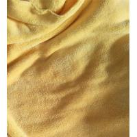China Microfiber 150cm width 550gsm Yellow Coral Fleece High Quality 150D/144F Cleaning Cloth wholesale