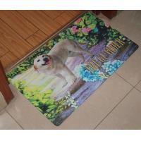 China Soft Non-Toxic Rubber Floor Carpet , Customized Printed Rubber Floor Mat on sale