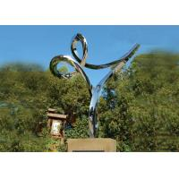 China Professional Stainless Steel Outdoor Sculpture , Stainless Steel Art Sculptures wholesale