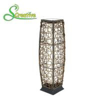 China Romantic Outdoor Rattan Solar Garden Lights Floor Lamp With Polysilicon Solar Panel on sale